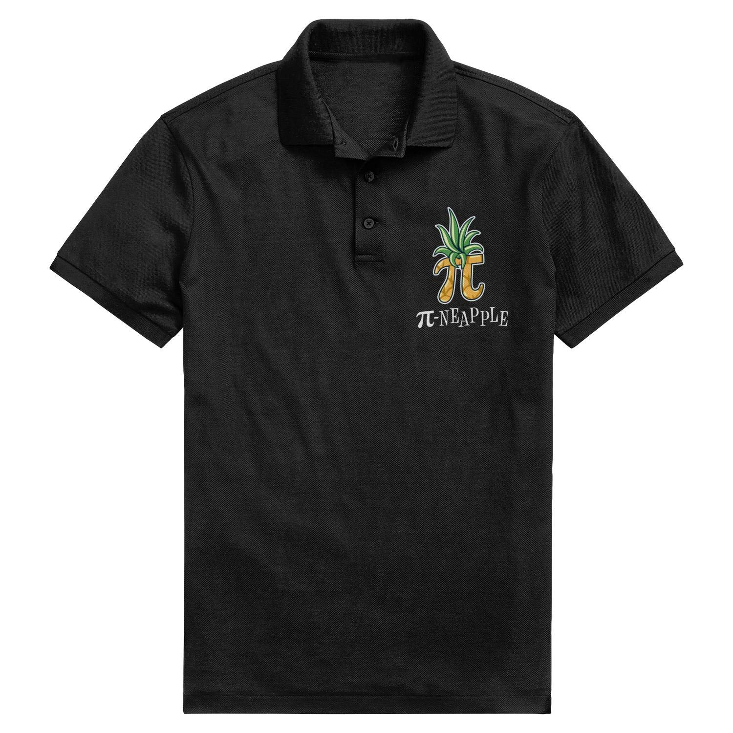 WYFEN Men Printed Polo Shirt Circumference Day Pineapple Pi Day Popular Short Sleeve Tshirts