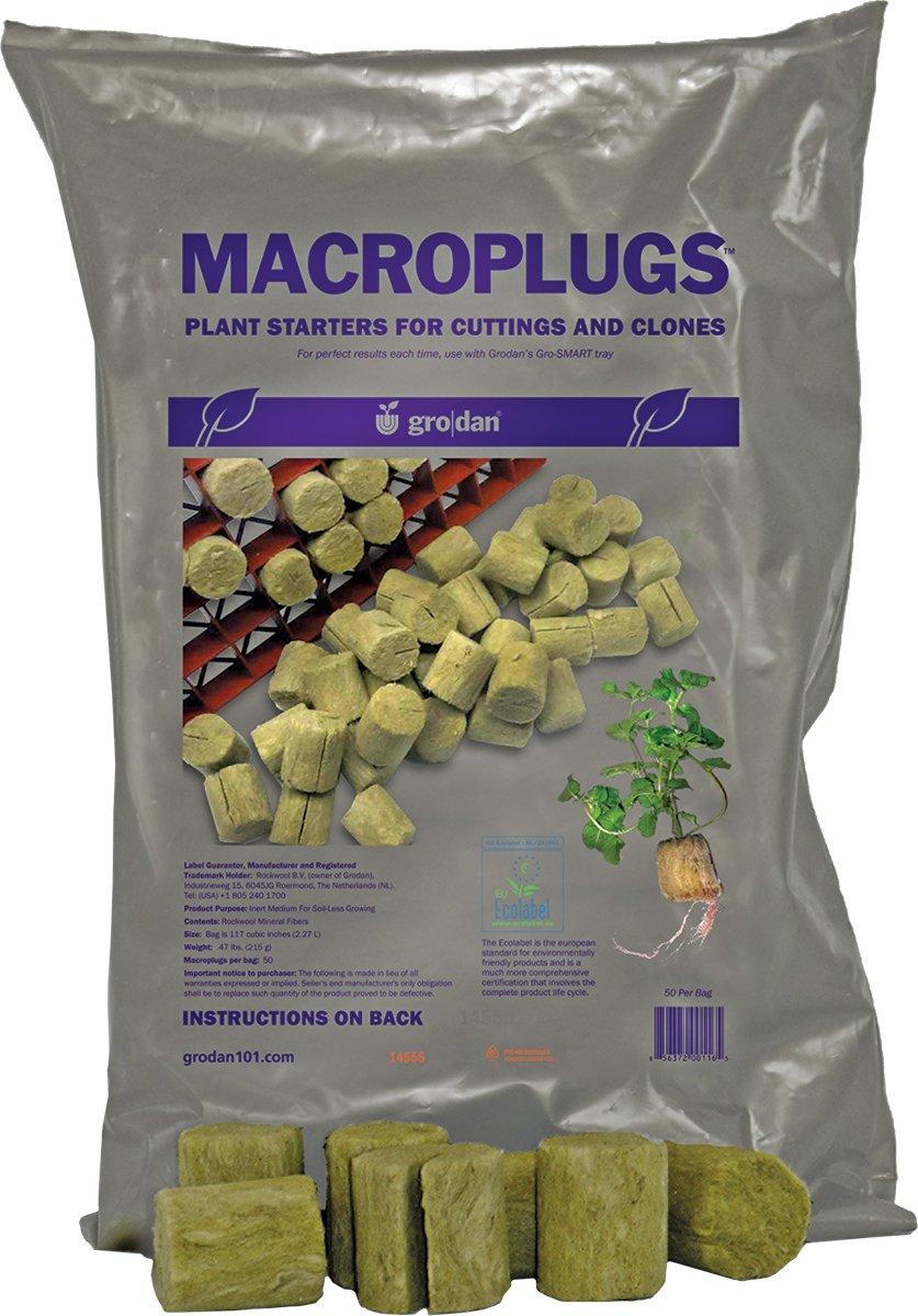 Amazon Grodan Rockwool Plant Plugs Macro 50 Pack Soil And