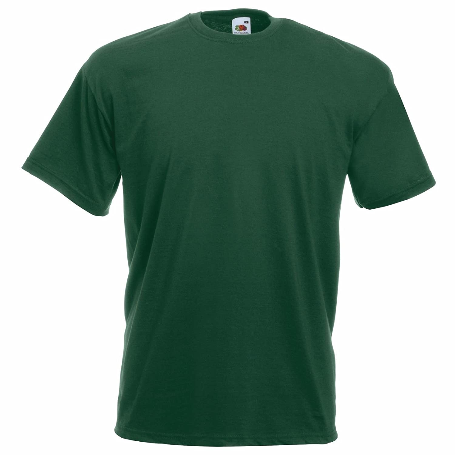 Vert Bouteille L Fruit of the Loom - T-Shirt - Moderne - Homme