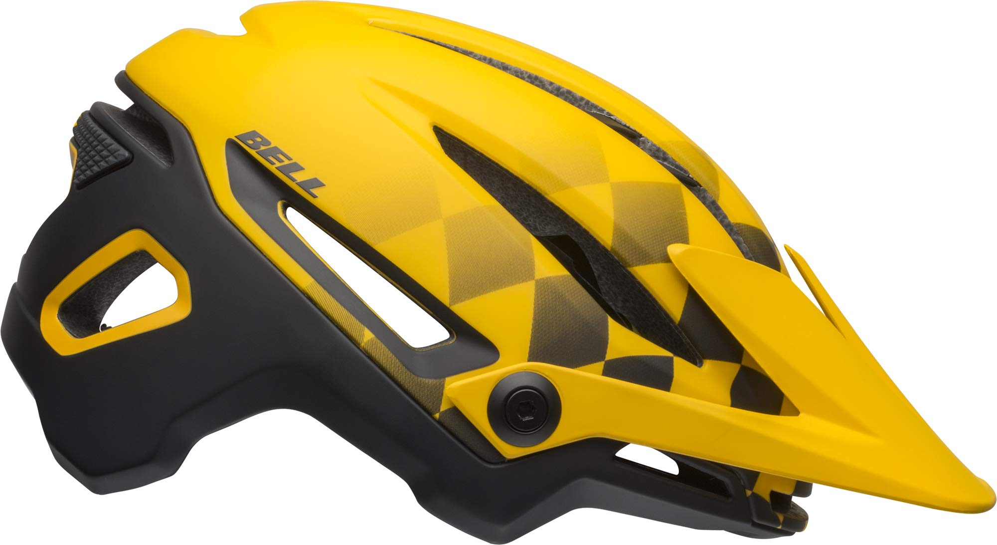 Bell Sixer MIPS Adult MTB Bike Helmet (Finish Line Matte Yellow/Black (2019), Large)