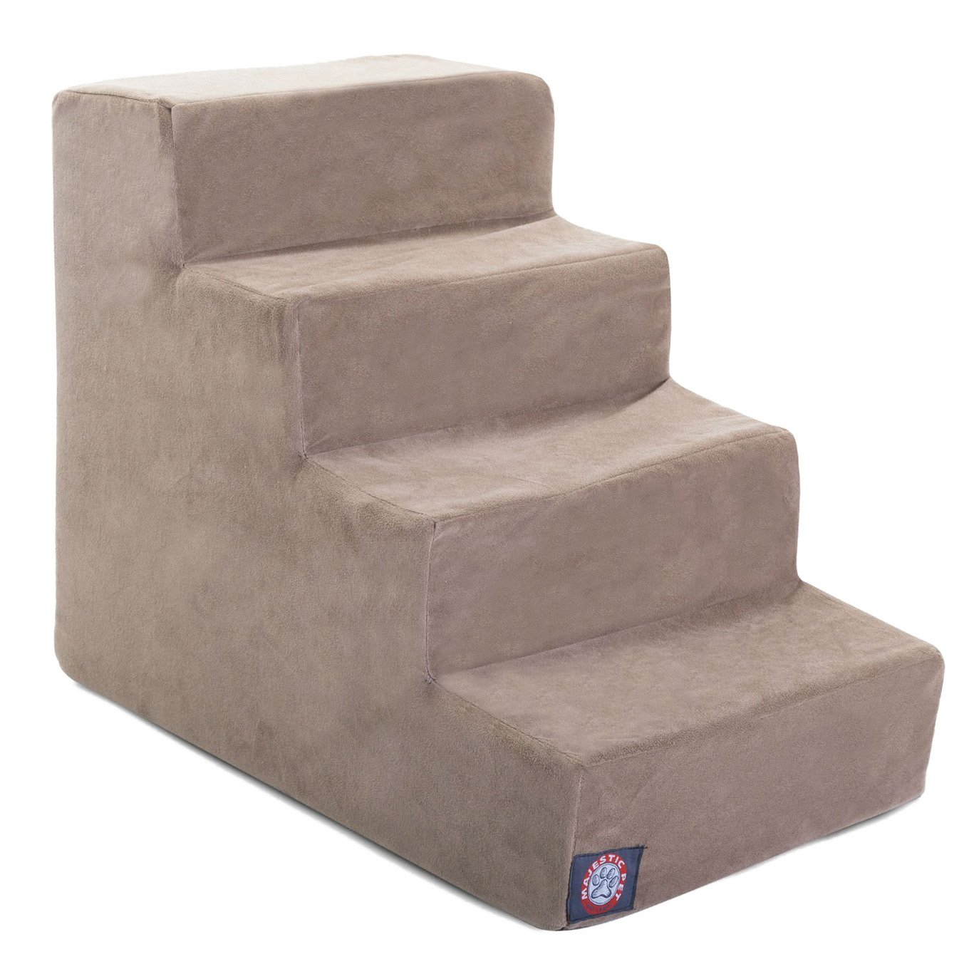 3 Step Black Velvet Suede Pet Stairs by Majestic Pet Products