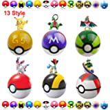 Moonideal 13 Pcs Different style Toy ball + 15 Pcs Different style Animal Figures