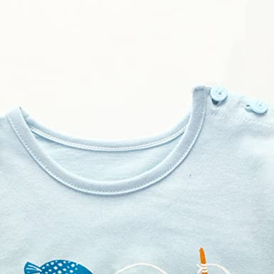 0yedens Newborn Toddler Kids Baby Boys Girls Short Sleeve Catoon Penguin T-Shirt /& Stripes Short Pants Outfits Set Light Blue,3-6 Month