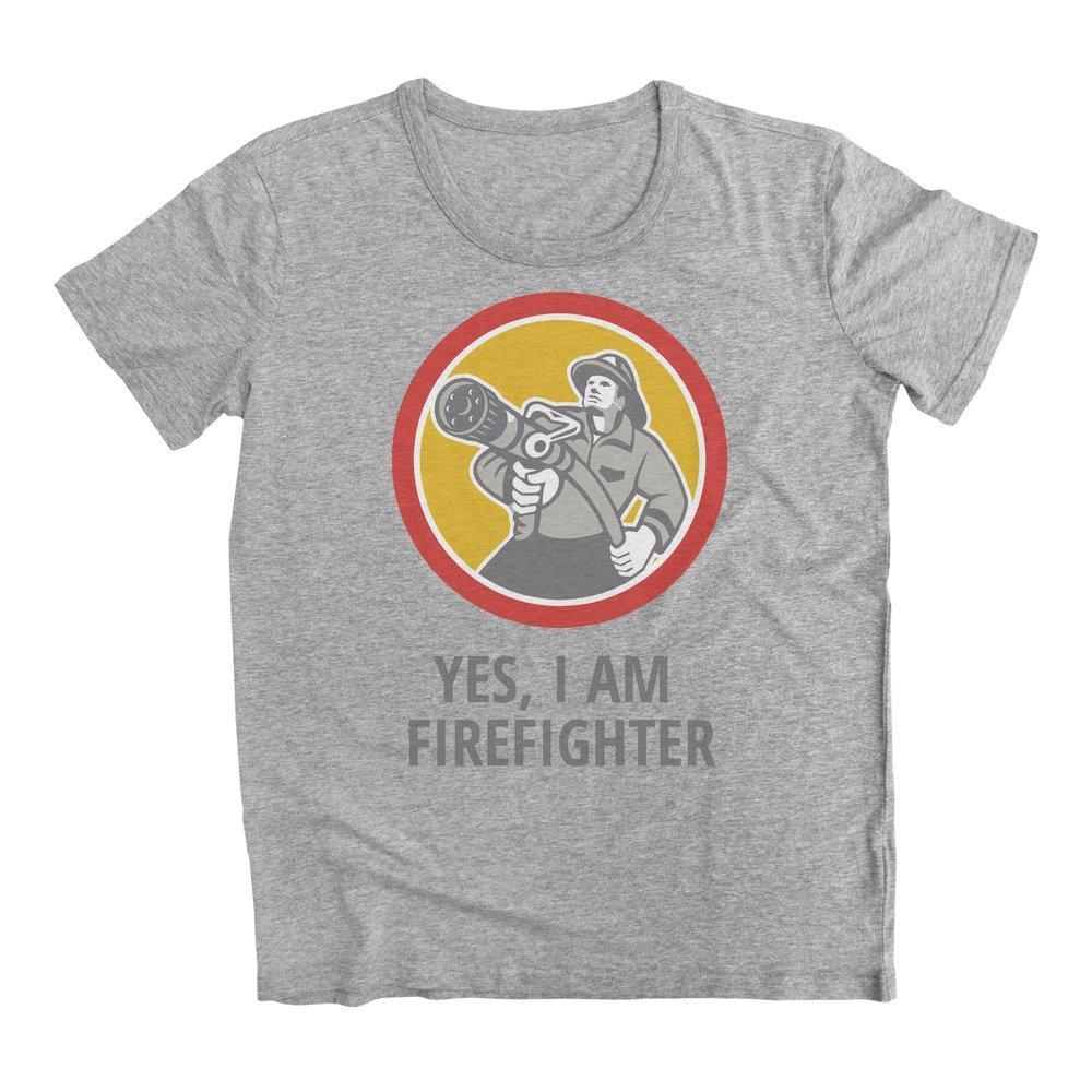 Yes Im A Firefighter Mens T-Shirt