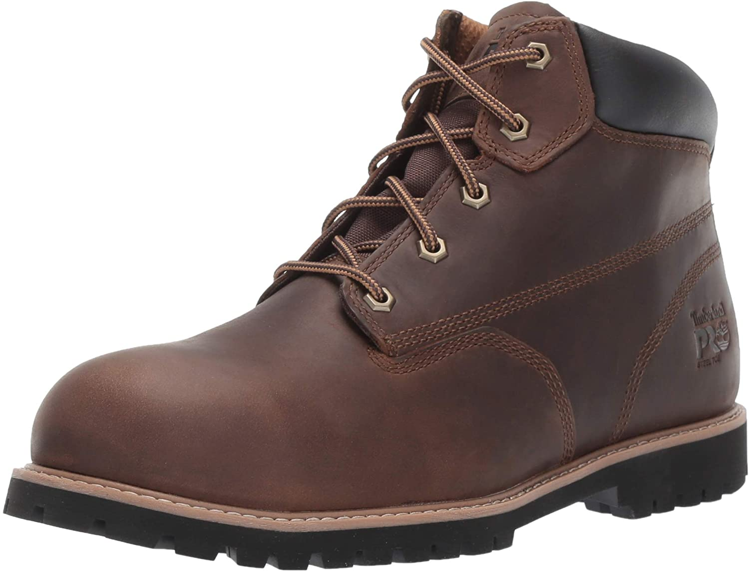 Timberland PRO Men's Gritstone 6 Inch Steel Safety Toe Industrial Work Boot, Brown, 15: Shoes