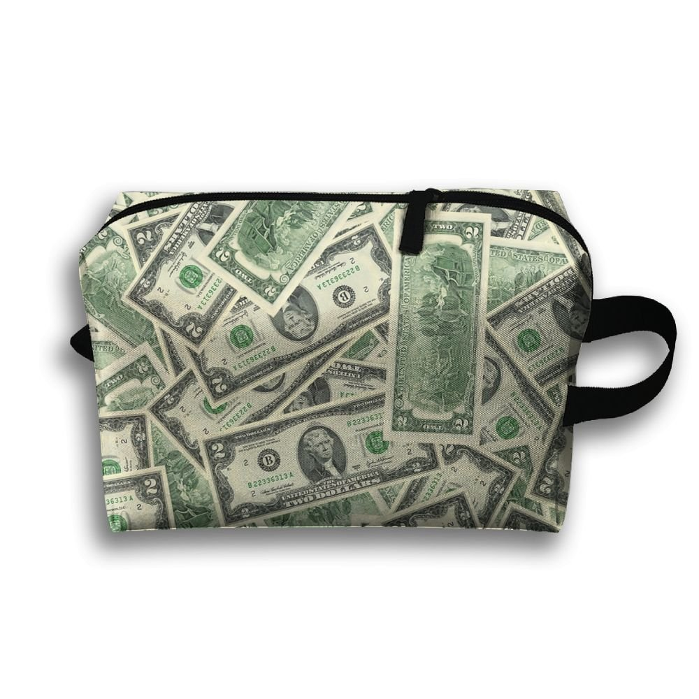 best Us Dollars Pattern Multifunction Portable Pouch Waterproof Travel Bag