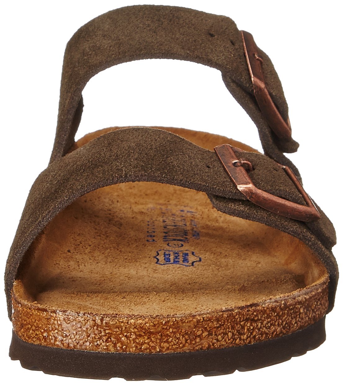 Birkenstock Unisex Arizona Mocha Suede Sandals - 35 N EU / 4-4.5 2A(N) US by Birkenstock (Image #4)