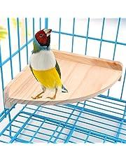 Bird plate-forme Perchoir support en bois pour petits animaux Amazones Parrot perruche calopsitte élégante perruche gerbille Rat souris chinchilla Hamster Cage Accessoires