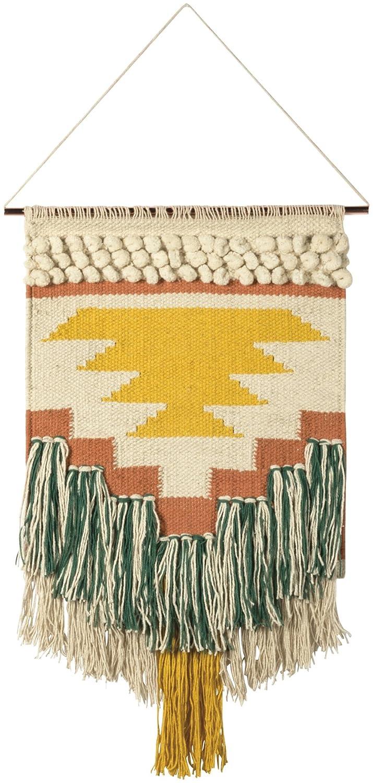 Amazon.com: Woven Wall Hanging Natural Fiber Art Tassel Banner ...