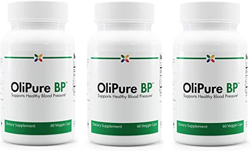 Stop Aging Now – OliPure BP – Olive Leaf Extract Blood Pressure Support Formula – 180 Veggie Caps 3 Bottle Multi-Pack