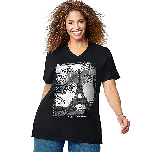 6d3ecc93 Just My Size Womens Short Sleeve Graphic Tee at Amazon Women's ...