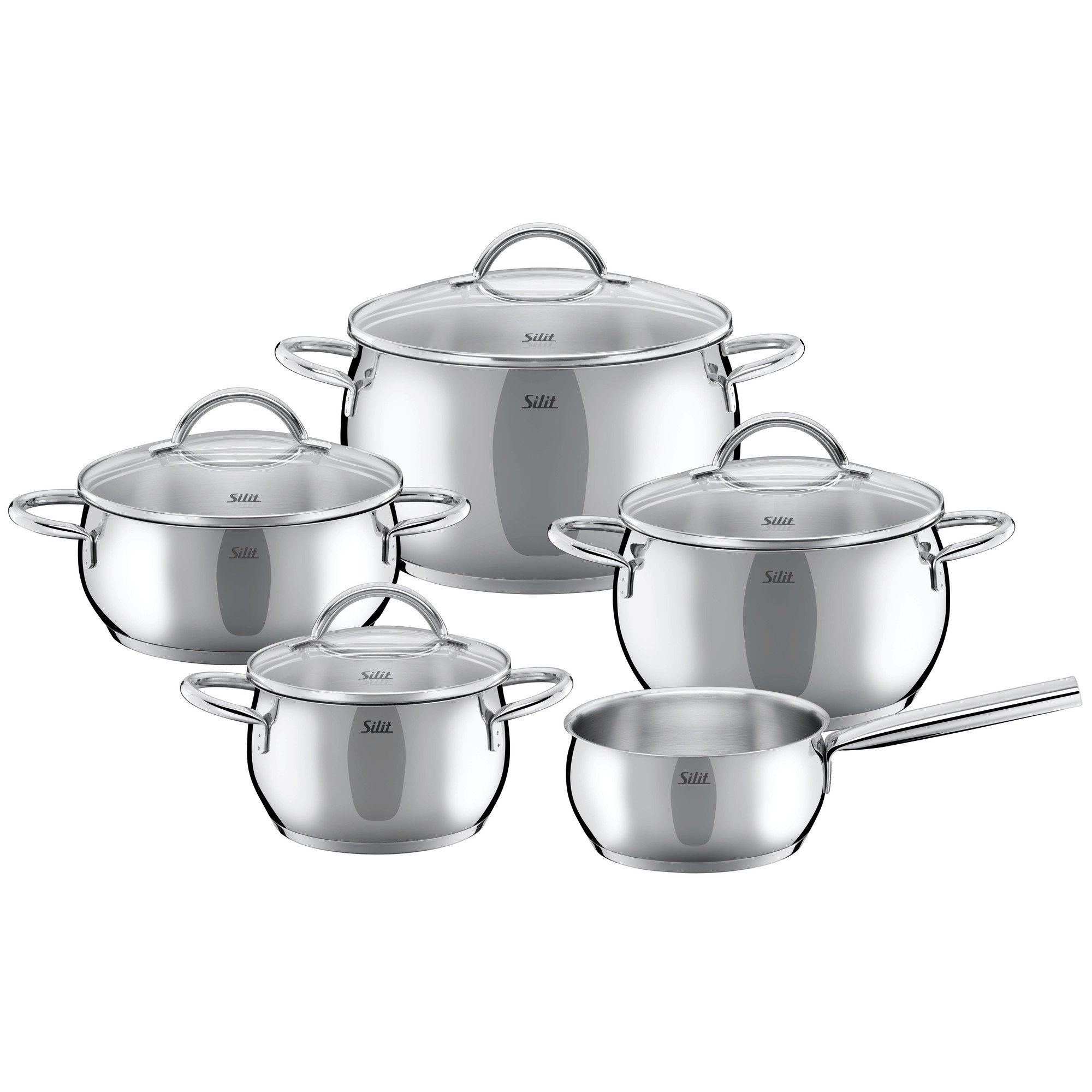 Silit Nobile 7-Piece 18/10 Stainless Steel  Cookware Set, Silver