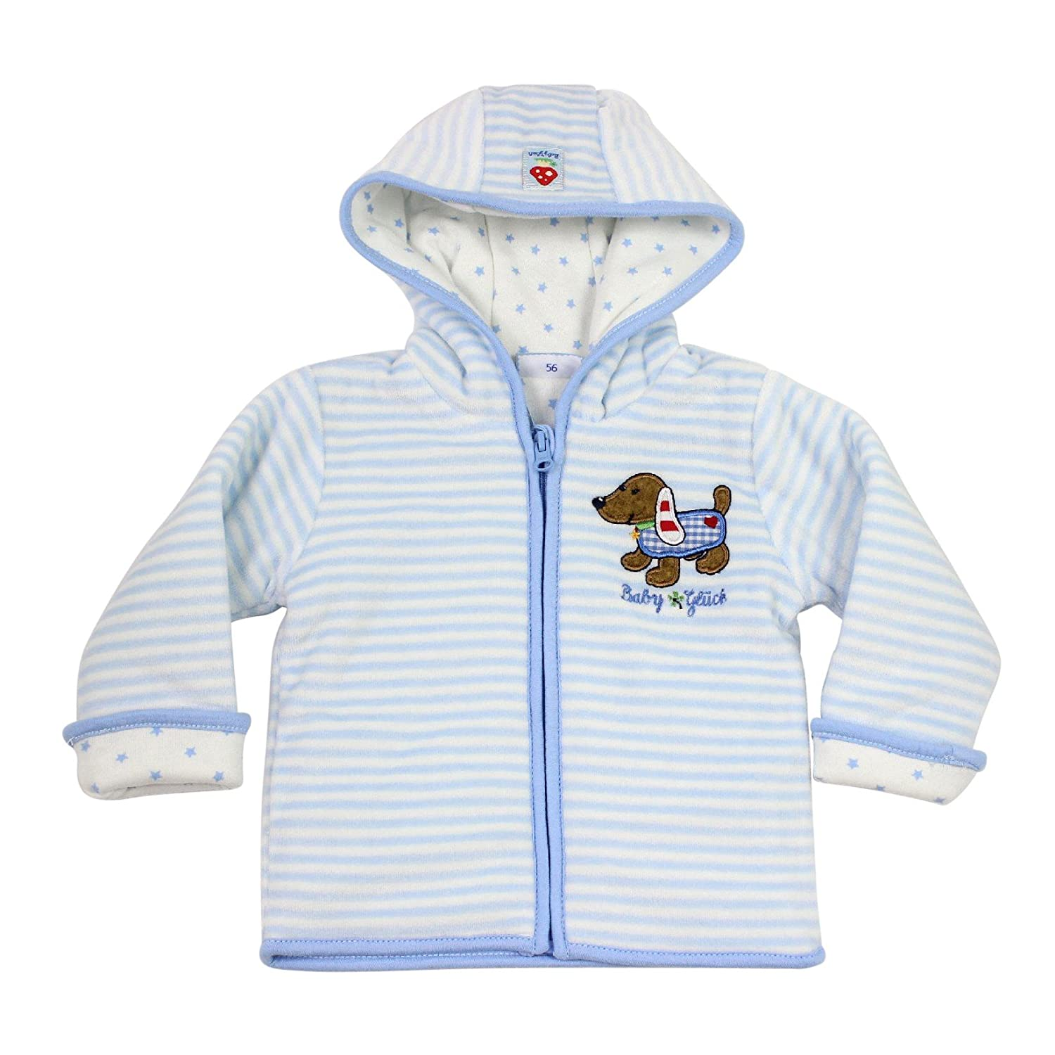 Salt and Pepper - Baby Jungen Sweatjacke gestreift Hund, hellblau 55818122