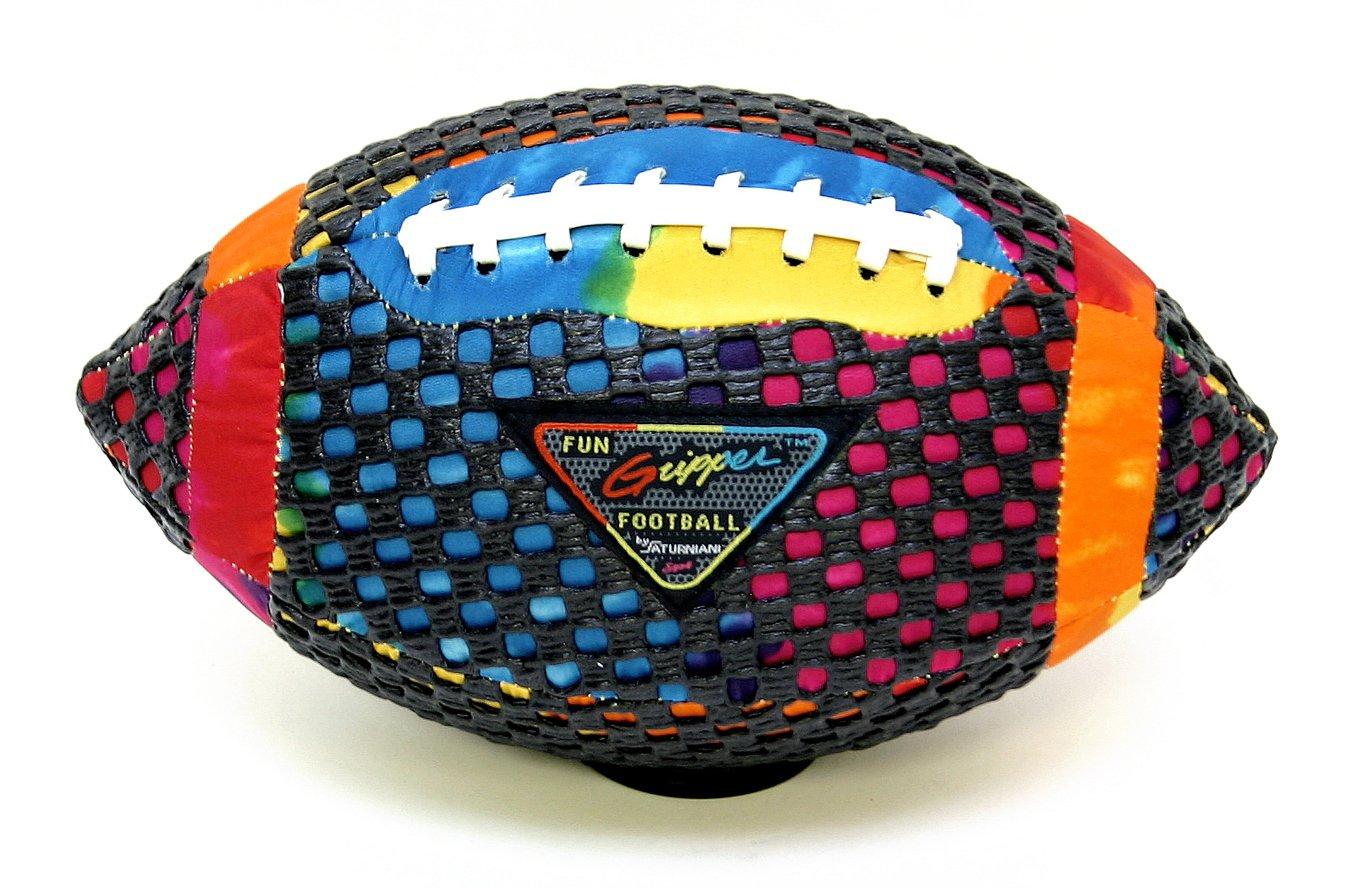 Fun Gripper (TD Tie-Dye 10.5 Inch Football By: Saturnian I P.E. Supplier