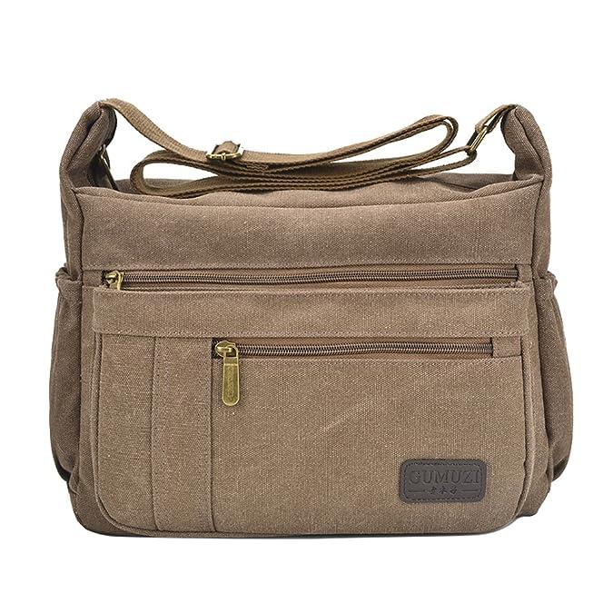 de3bf6d3e Clothing, Shoes & Jewelry Fabuxry Light Weight Canvas Shoulder Bag for  Women Messenger Handbags Cross Body ...
