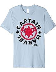 Captain Marvel Bold Red Circle Logo Graphic T-Shirt