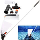 Swimming Pool Jet Vacuum Cleaner Underwater with 5 Section Pole, Portable Pool Mini Jet Vacuum Suction Head for Above…