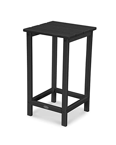 POLYWOOD ECT26BL Long Island 26 Counter Side Table, Black