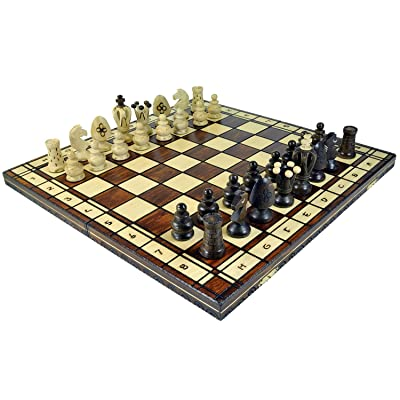 Wegiel Royal 48 European Wooden Handmade International Chess Set: Toys & Games