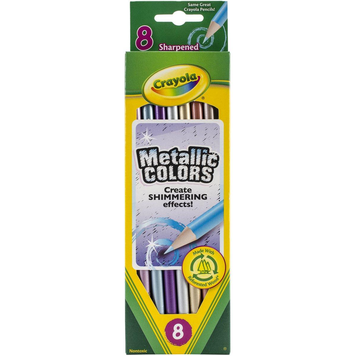 Crayola Metallic FX Colored Pencils - 8 Pencils 68-3708