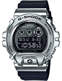 Men's Casio G-Shock 25th Anniversary Limited Edition Digital Stainless Steel and Black Resin Strap Watch GM6900-1