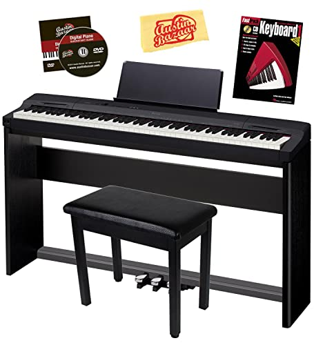 Casio Privia PX-160 Digital Piano - Black Bundle with CS-67