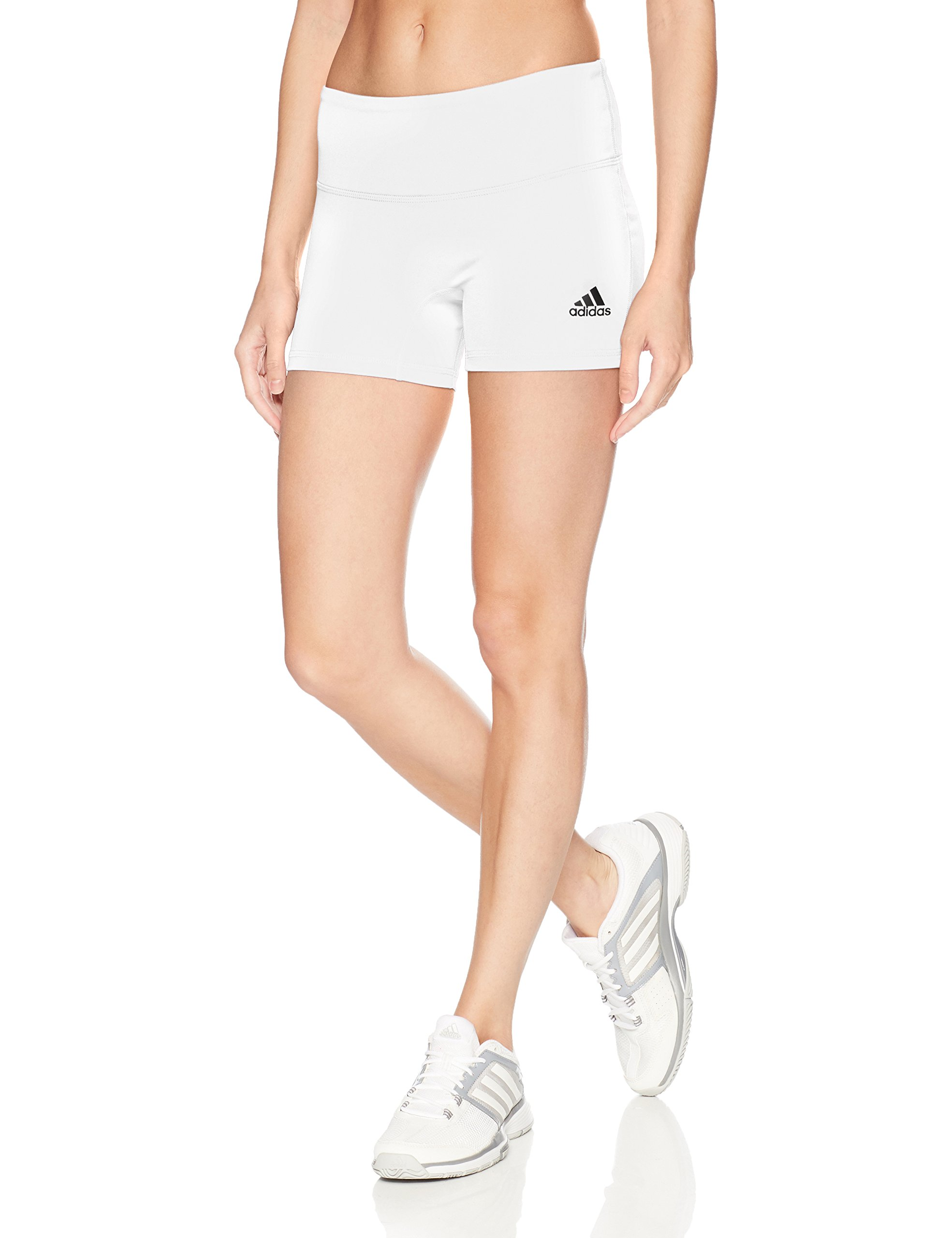 adidas Women's 4 Inch Short Tight, White, XX-Small