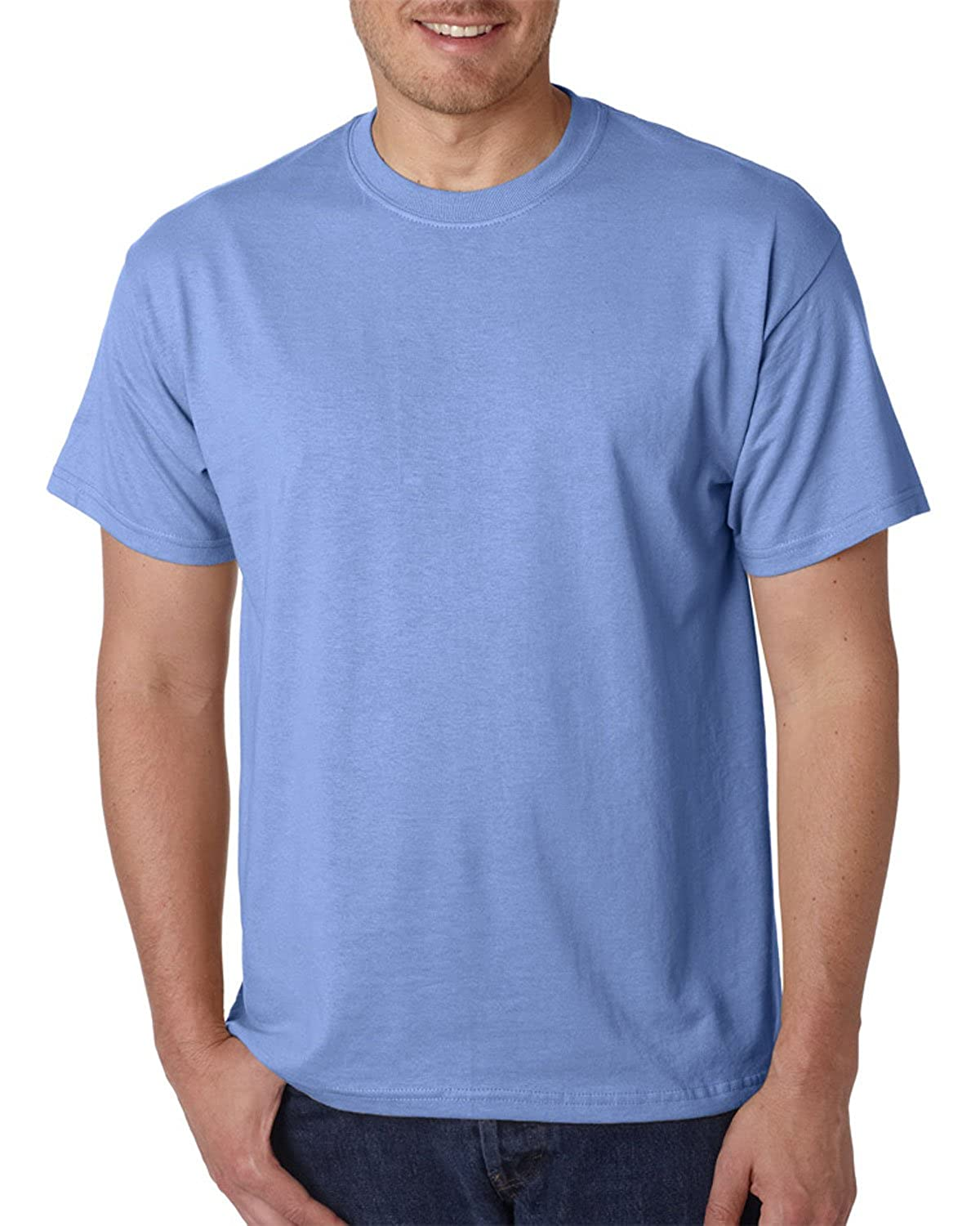 50/50 Ultra Blend Tee Shirt, Color: Carolina Blue, Size: XXXXX-Large