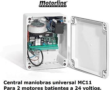 Central cuadro maniobras universal garaje puerta batiente de 1 o 2 ...