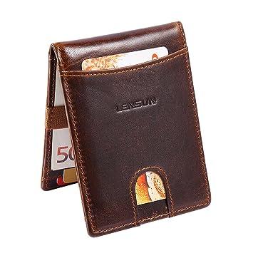 Mens Leather Wallets Purse Credit Card Holder Brown Black Oyster Holder Gift Geldbörsen & Etuis