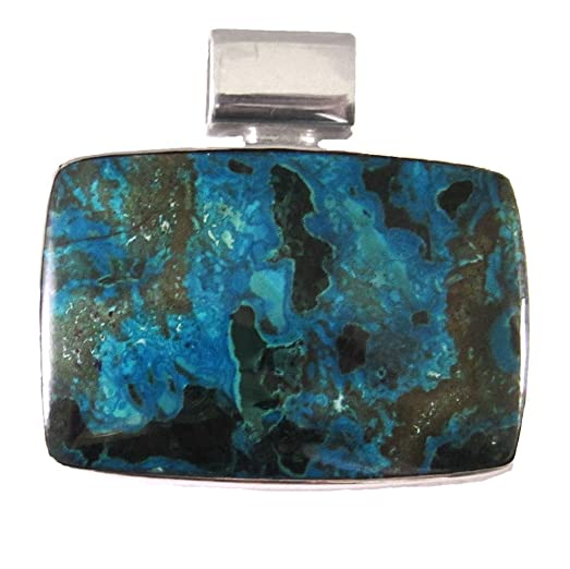 Amazon starborn creations sterling silver natural chrysocolla starborn creations sterling silver natural chrysocolla pendant mozeypictures Image collections