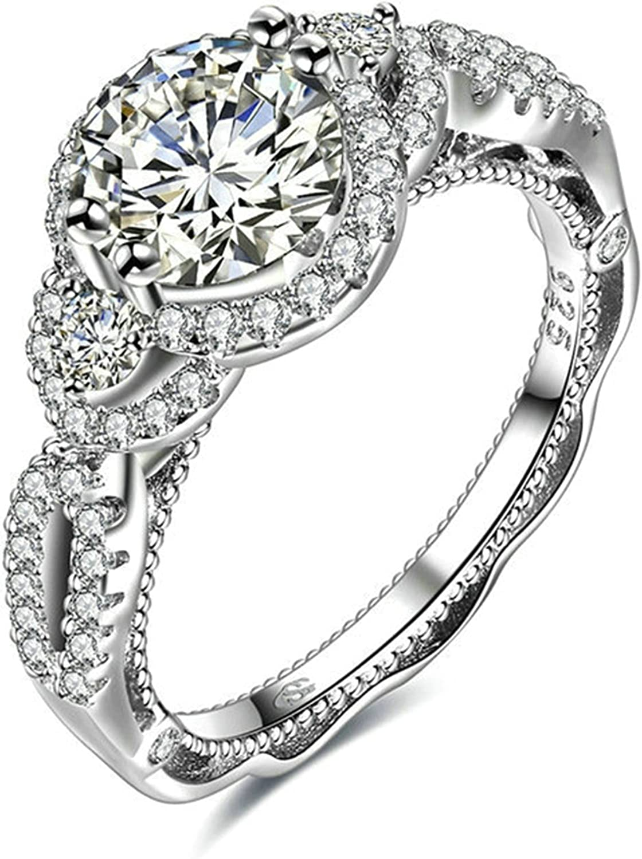 Gnzoe S925 Sterling Silver Women Wedding Ring Gold CZ Silver