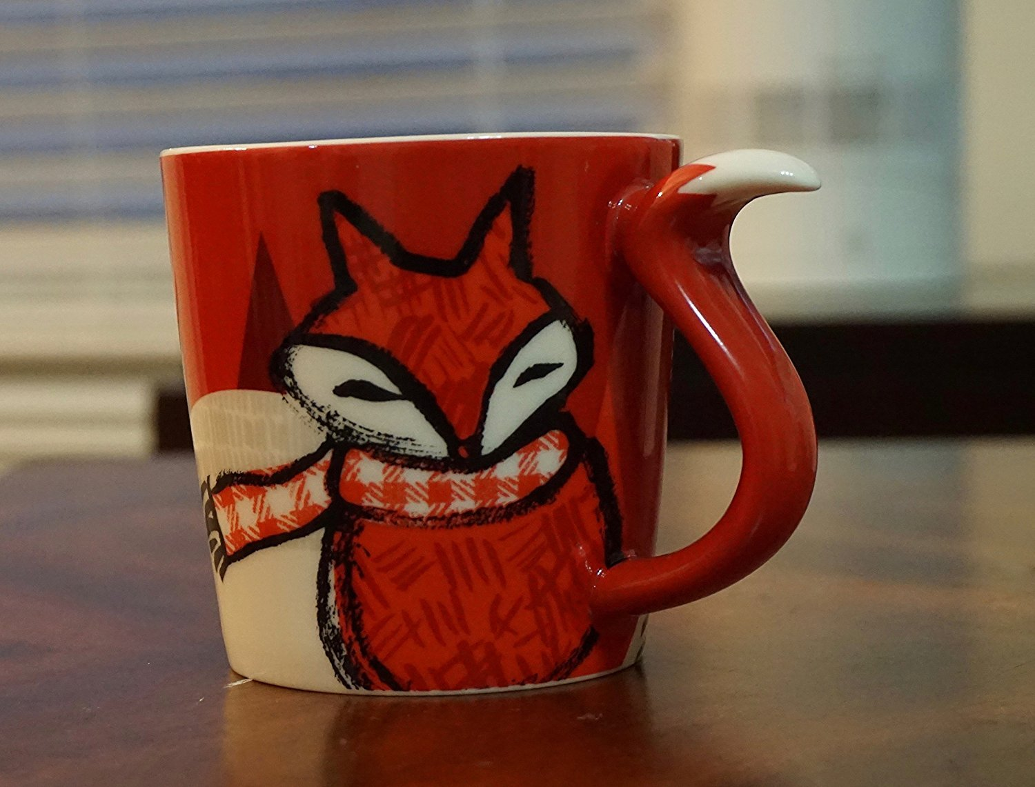 RARE Starbucks Holiday RED FOX Mug 12 Oz. 2016 by Starbucks (Image #1)