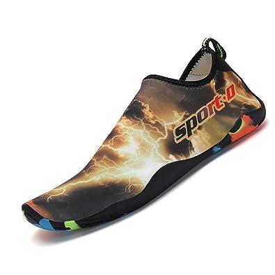 ae777c95cf18 katliu Men Women Aqua Shoes Quick Drying Non-Slip Barefoot Water Shoes with  Drainage Holes