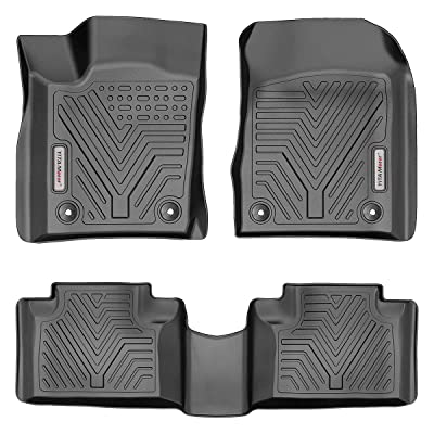YITAMOTOR Floor Mats for Jeep Grand Cherokee, Custom fit Floor Liners for 2016-2020 Jeep Grand Cherokee/Dodge Durango, 1st & 2nd Row All Weather Protection, Black: Automotive