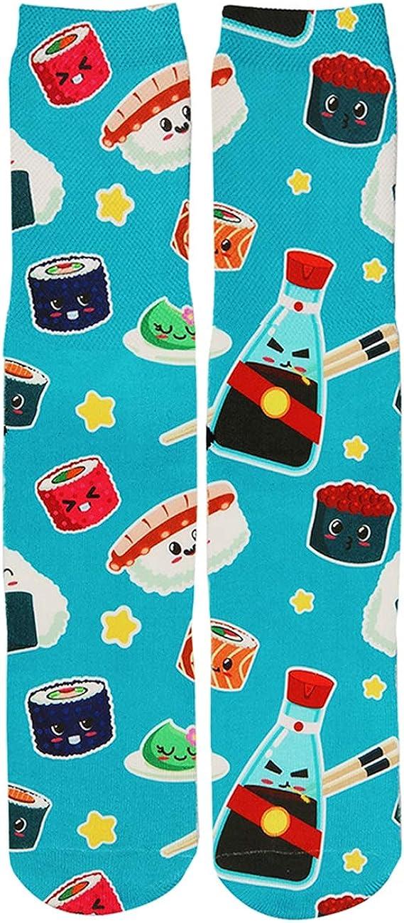 Benefeet Sox Men's Crazy Novelty Socks for Teen Boys Kids Weird Socks Galaxy Animal Food Tube Crew Socks