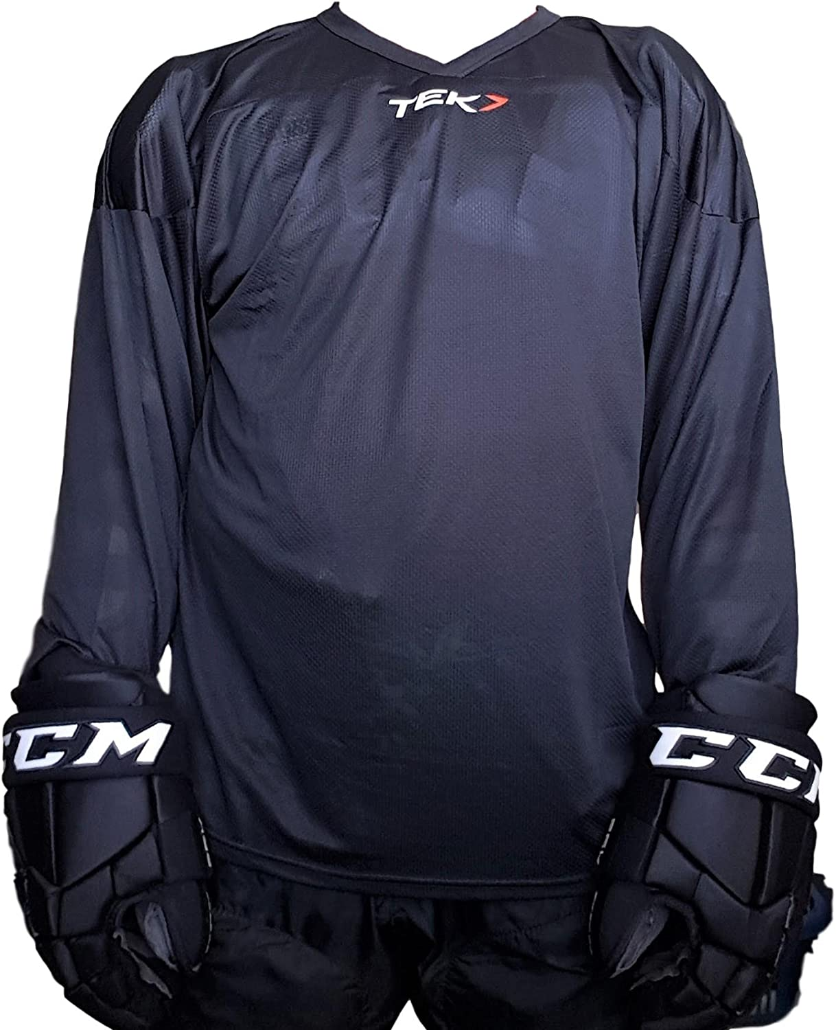 Practice Hockey Jersey Breathable Solid Color Hockey Jersey Adult//Senior mesh