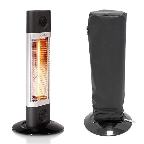 Veito ch1200 LT Carbon Estufa infrarrojos de atril con campana vasner aircape, 1200 W,