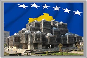 Pristina Fridge Magnet, The Capital City of Kosovo[G] Refrigerator Magnet