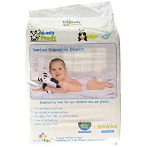 Eco Friendly Premium Bamboo Disposable Diapers by Andy Pandy