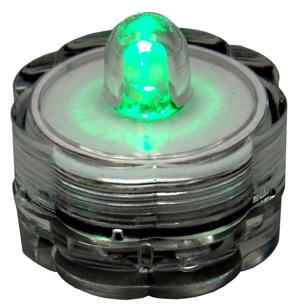 Bluedot Trading Green 30 Submersible Waterproof Candle Lights LED Tea Lights-30 by Bluedot Trading