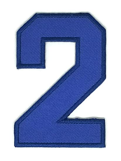 Amazon 2 X 3 Inches Blue The Second Numbers Patch Sew Iron On