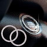 TOBATOBA 6 Pack Crystal Rhinestone Car Bling