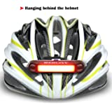 Ancheer Bright Bike Tail LED Light USB Rechargeable,Steady 3 Light Mode Options, Waterproof and Helmet Light Accessories Fits on bikes, Easy to Install for Cycling Safety Flashlight