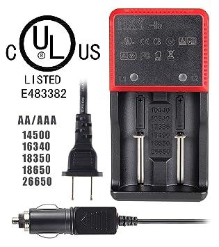 UltraFire Cargador de Baterías HYX-H2e,Certificado UL ...