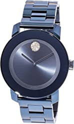 Movado Bold Light Blue Dial Ladies Watch 3600494