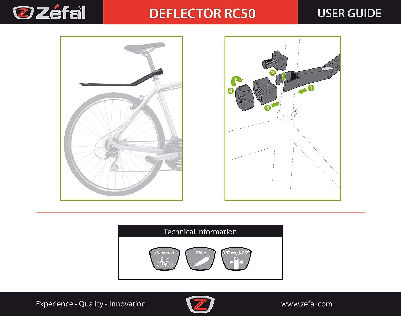 Garde-Boue Zefal RC50 GreenZ Noir 2017