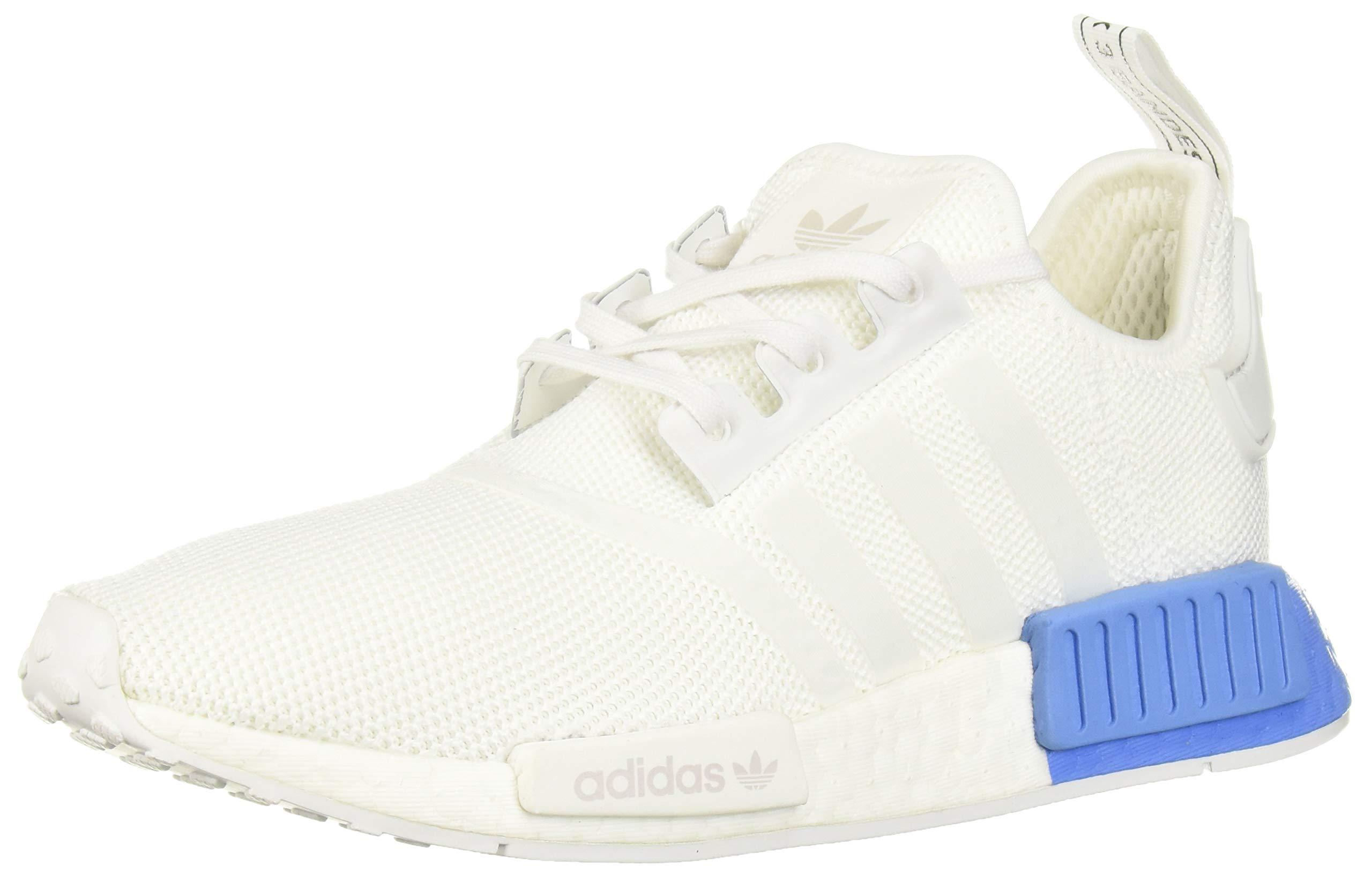 adidas Originals Unisex NMD_R1 Running Shoe, White/Real Blue, 4.5 M US Big Kid by adidas Originals