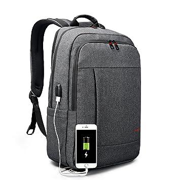 Tigernu antirrobo de negocios mochila impermeable ordenador portátil mochila con puerto de carga USB portátil de ...