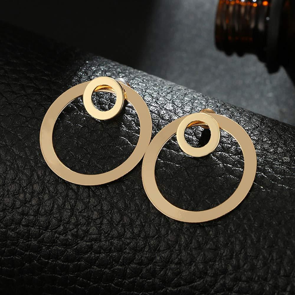 KAKAKI Simple Temperament Alloy Geometric Metal Size Mini Circle Earrings Gold,1Pcs